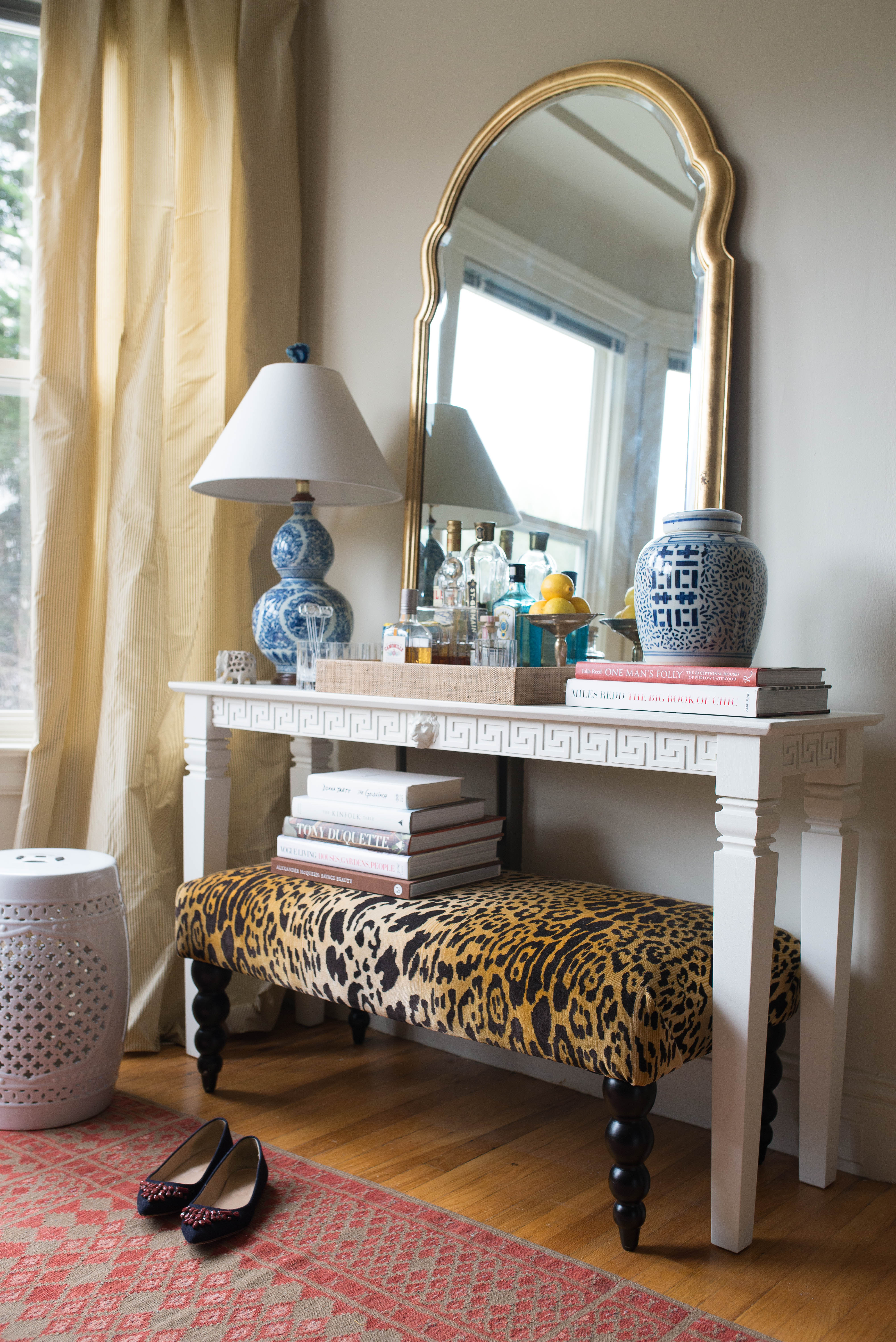 Ruthie Sommers diy greek key console table à la ruthie sommers - stacie flinner