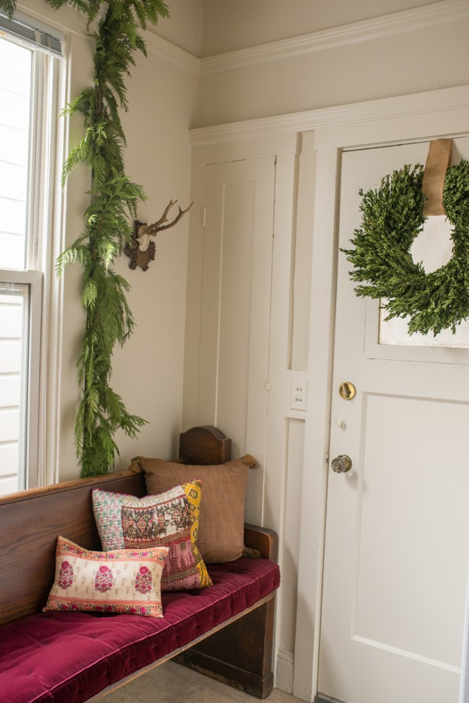 Antlers Holiday Decor Christmas Wreath Pillows