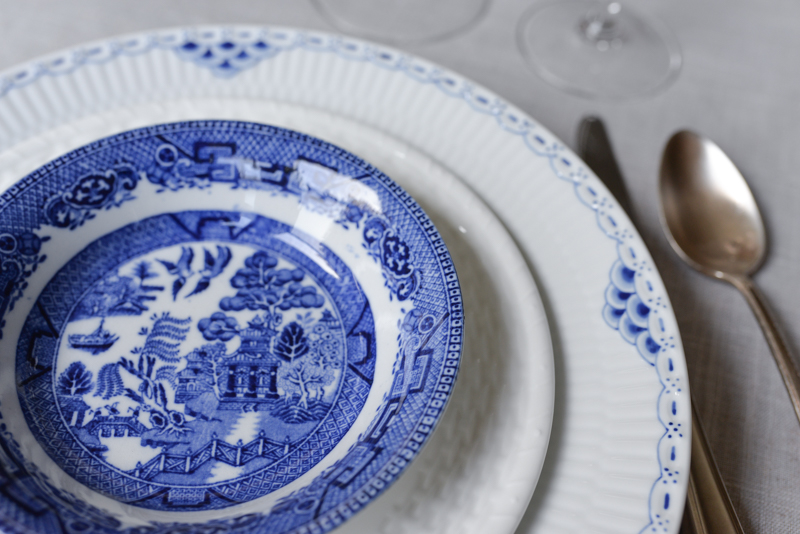vintage china royal copenhagen blue and white 6