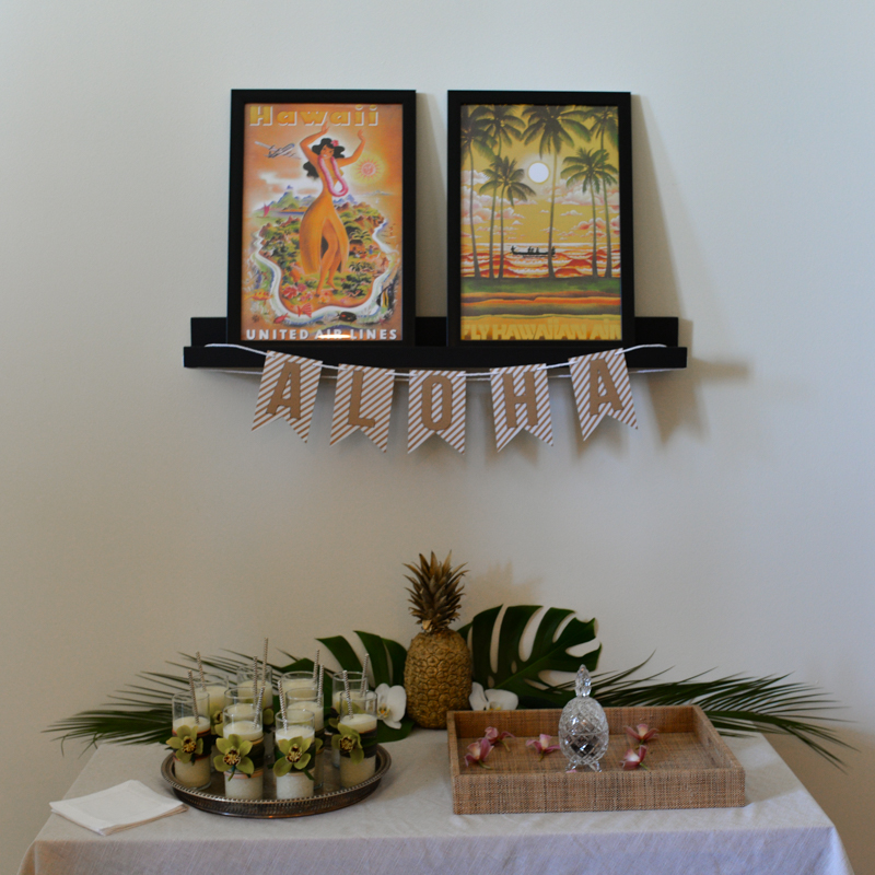 Elegant Tropical Hawaiian Birthday Party -14
