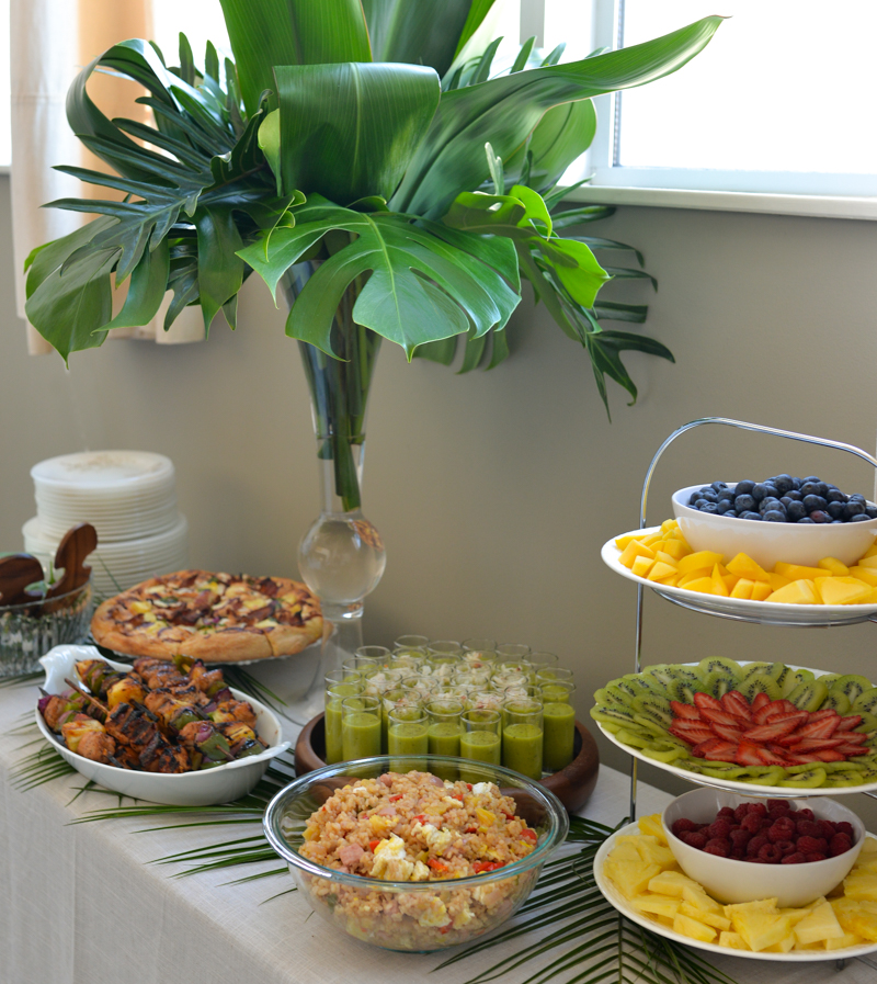 Elegant Tropical Hawaiian Birthday Party -20