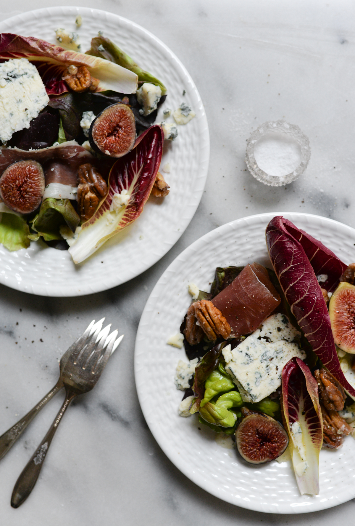 Autumn salad recipe fig blue cheese prosciutto