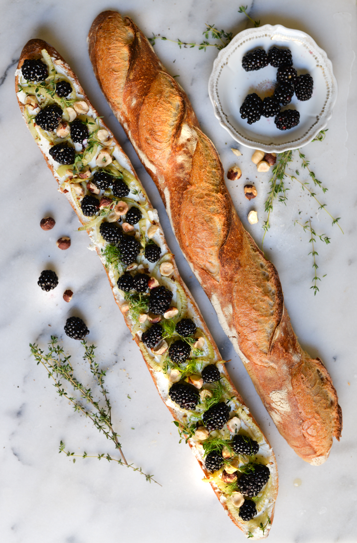 blackberry fennel goat cheese appetizer