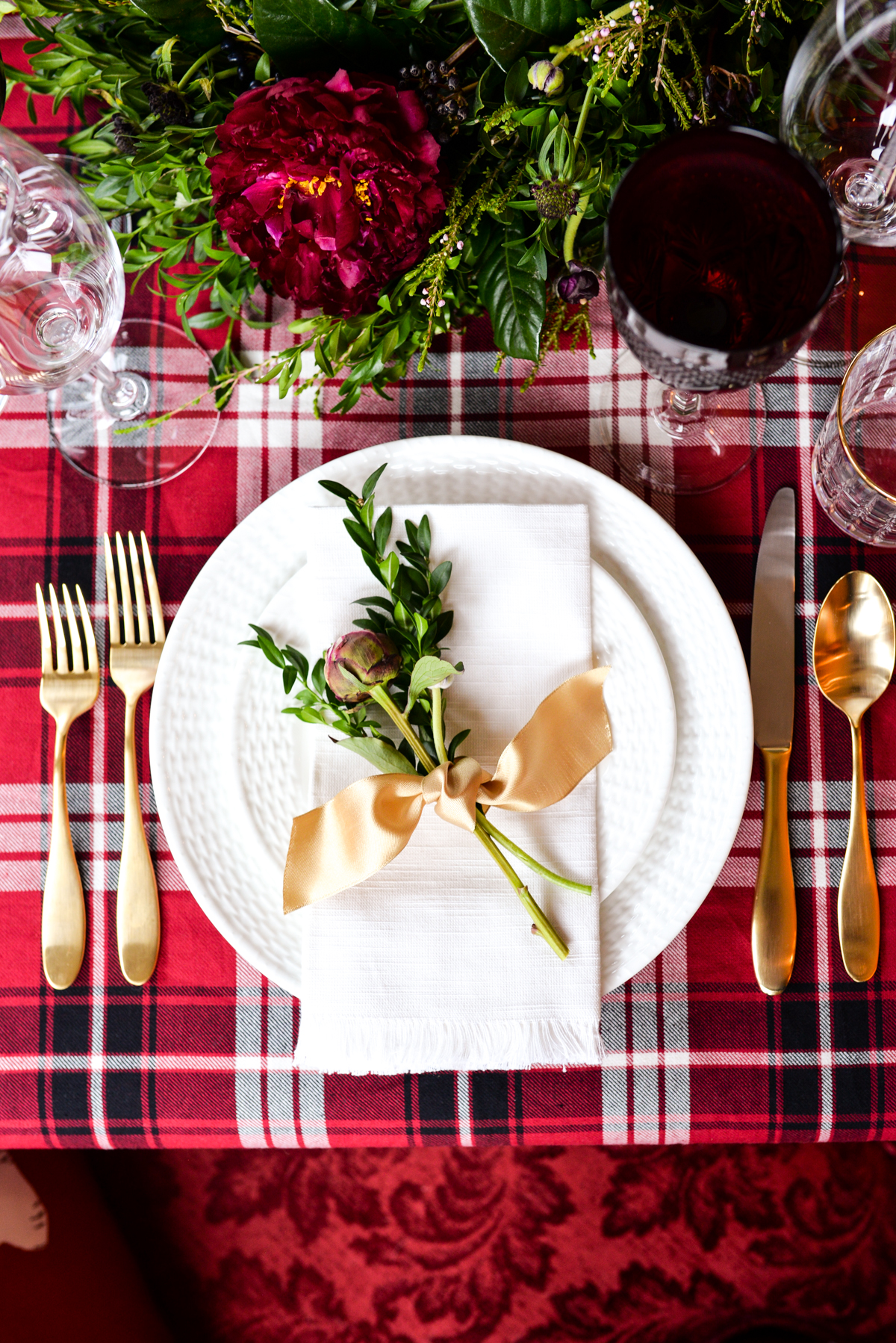 Two Christmas Table Settings Stacie Flinner
