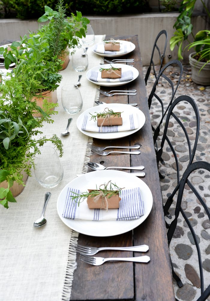 Summer Garden Party with Black Twine