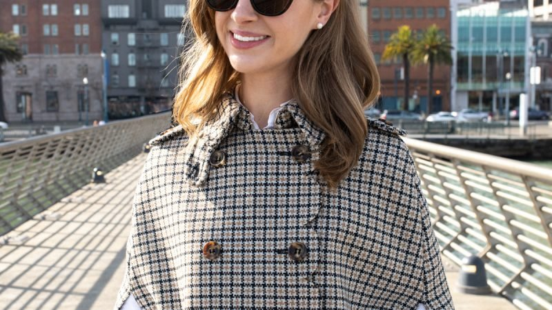 Wardrobe Icon: The Checked Cape