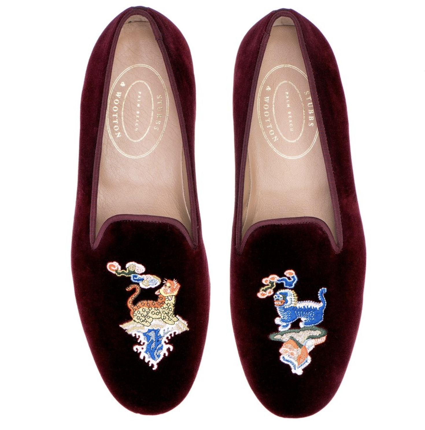 Stubbs and Wootton Chinoiserie Loafers 1