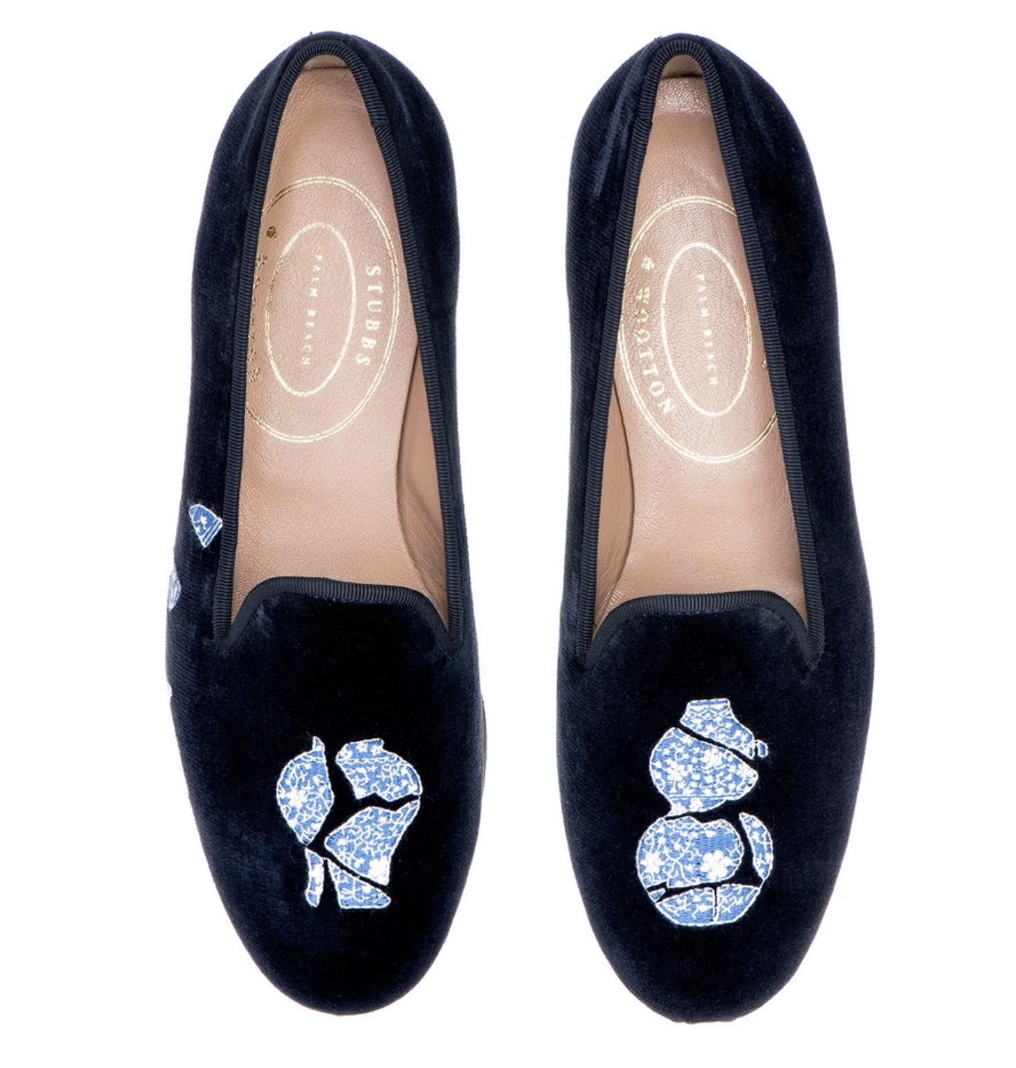 Stubbs and Wootton Chinoiserie Loafers 2