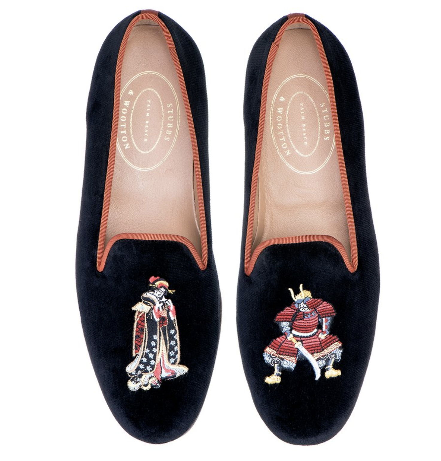 Stubbs and Wootton Chinoiserie Loafers 3