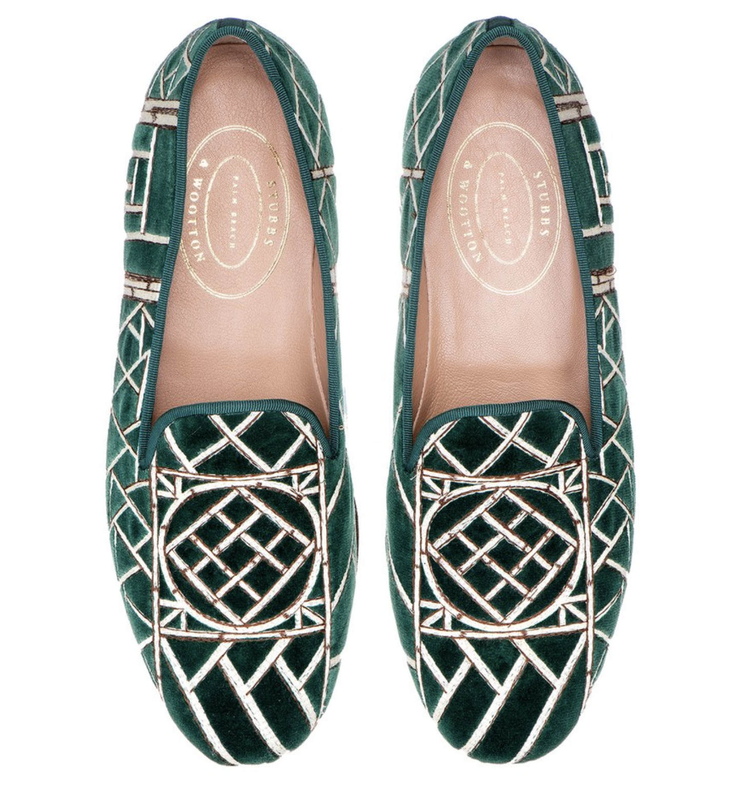 Stubbs and Wootton Chinoiserie Loafers 4