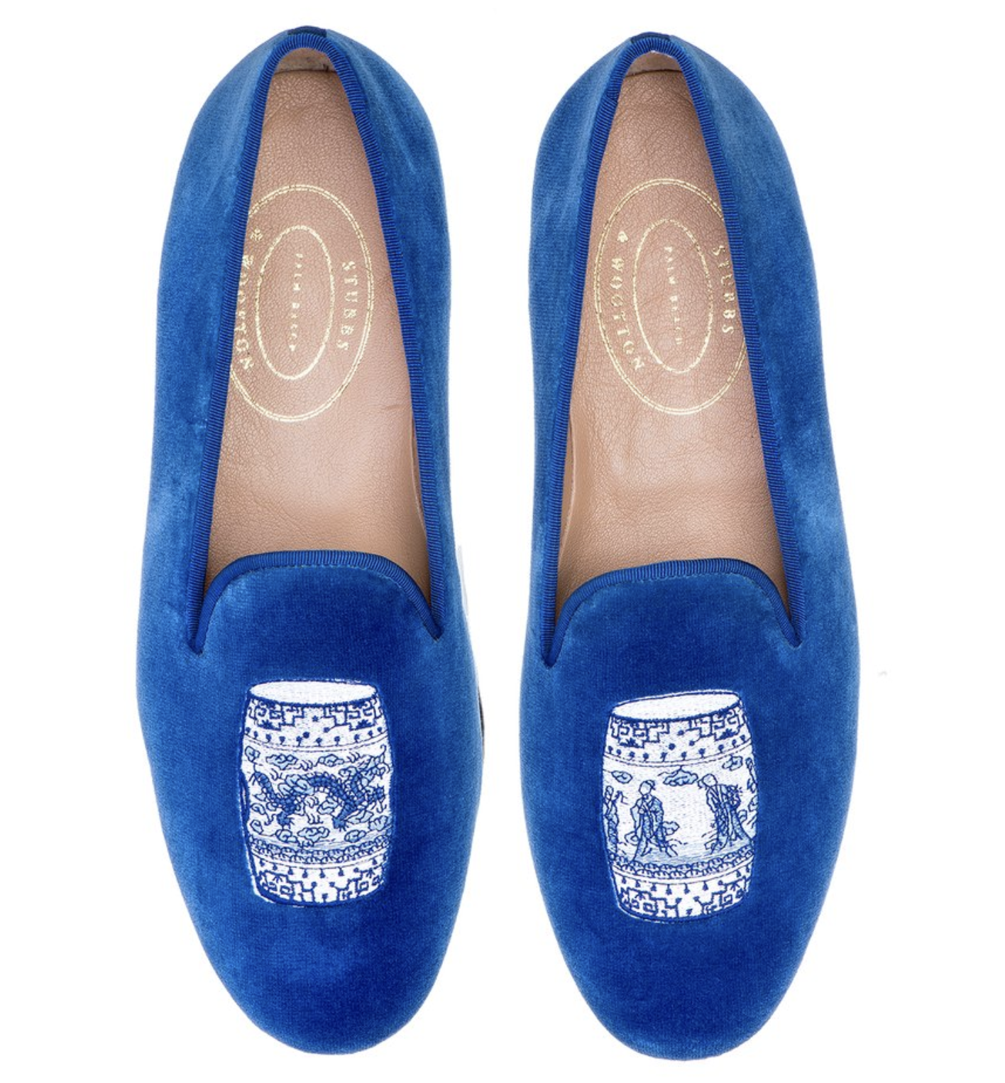 Stubbs and Wootton Chinoiserie Loafers 7