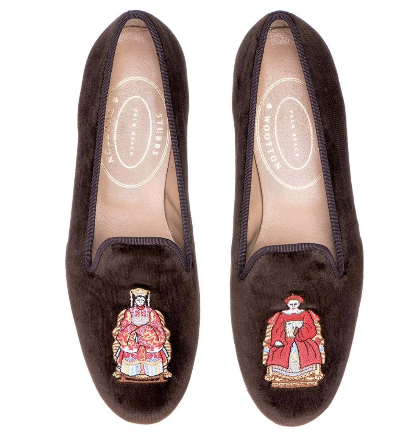 Stubbs and Wootton Chinoiserie Loafers 8