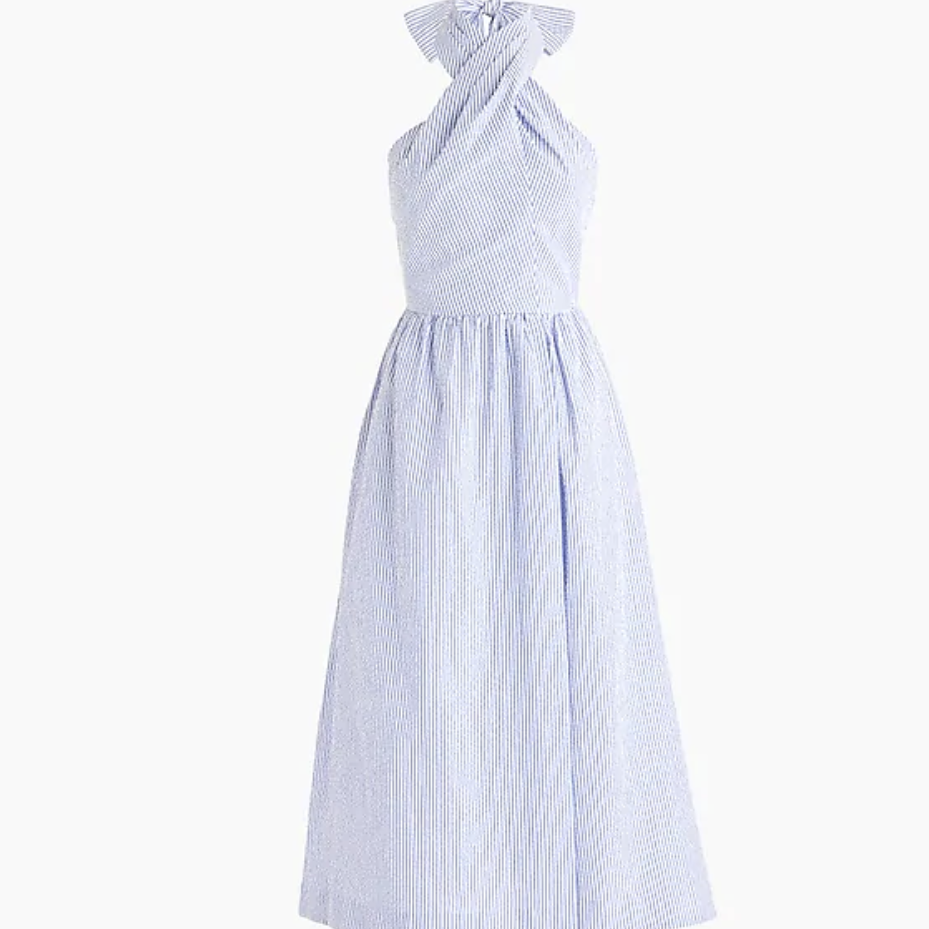 J.Crew Sarong Dress Seersucker