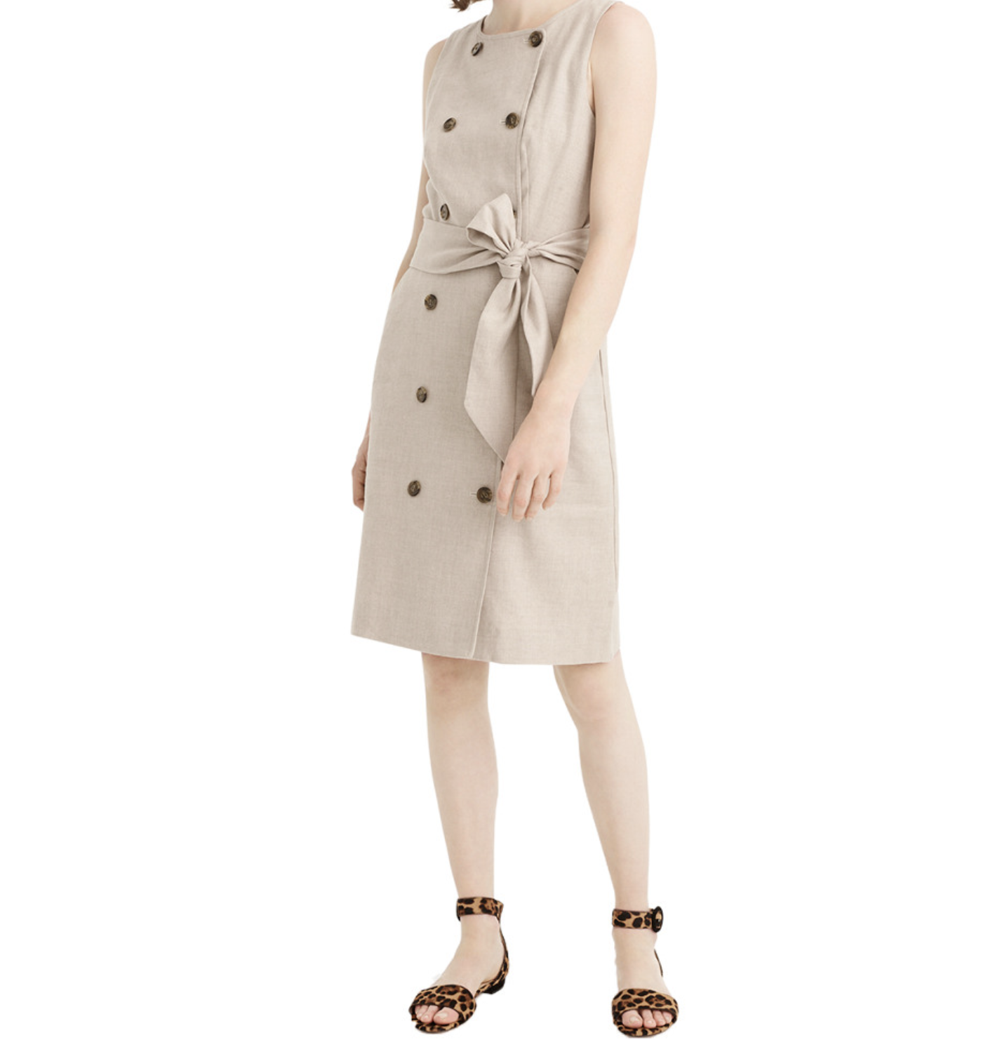 J.Crew Linen Button Dress