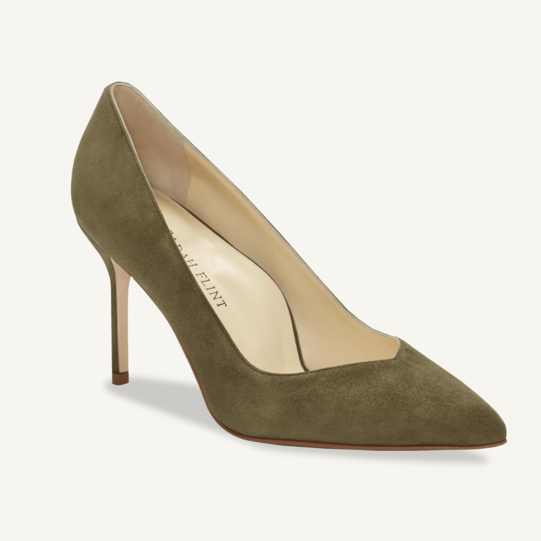 Sarah Flint Perfect Pump Olive Suede