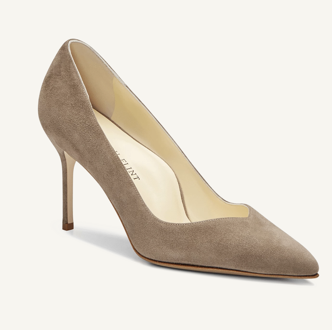 Sarah Flint Perfect Pump Taupe Suede