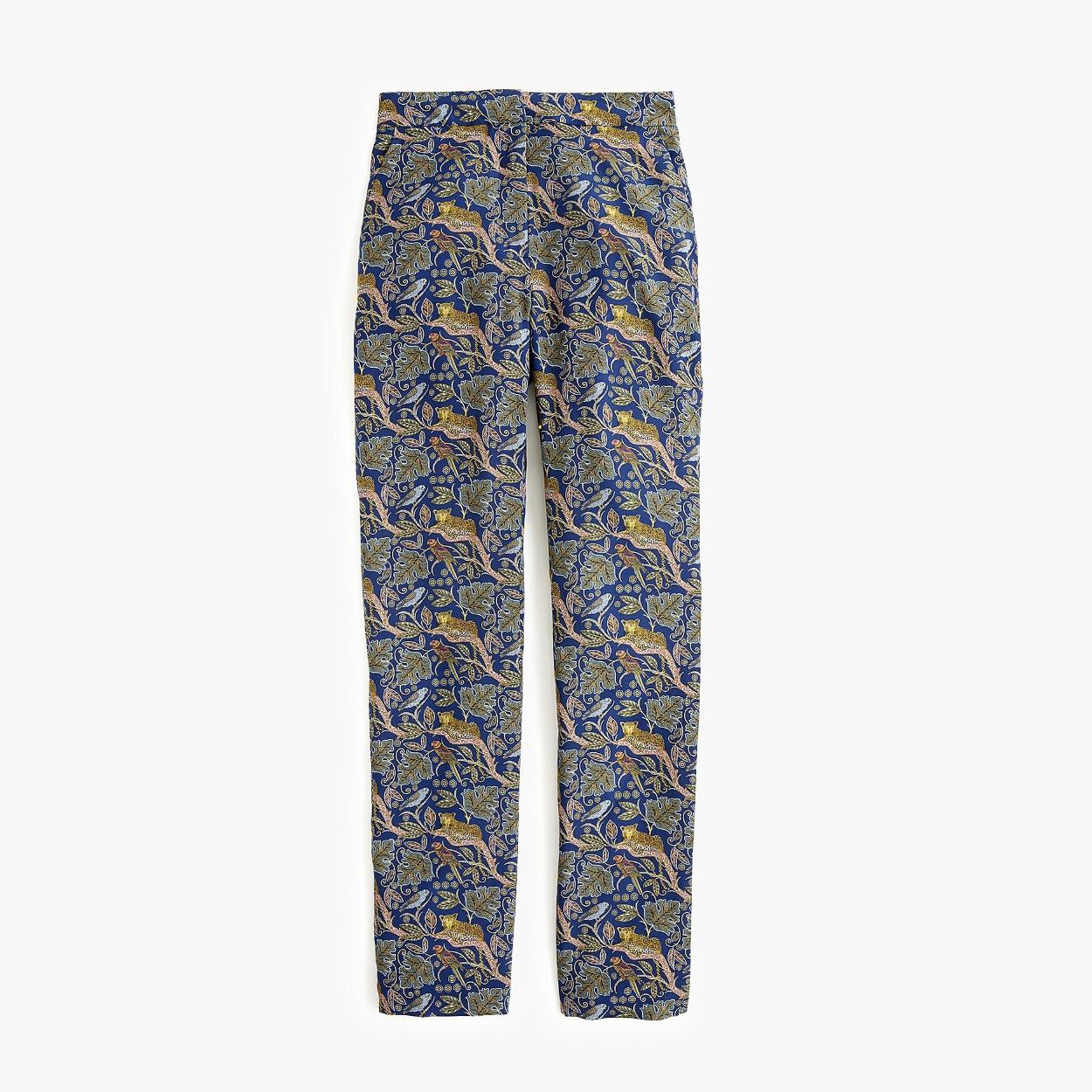 J.Crew Collection Loepard Silk Pants