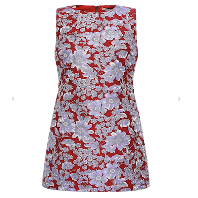 Alice and Olivia Floral Jacquard Shift Dress