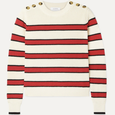 La Ligne Striped Cotton Sweater