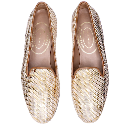 Stubbs Wootton Basket Gold Loafers