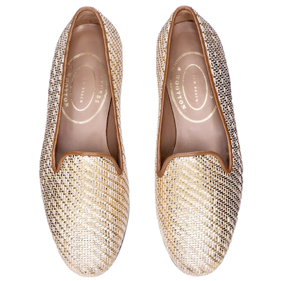 Stubbs and Wootton Basket Platino Loafers