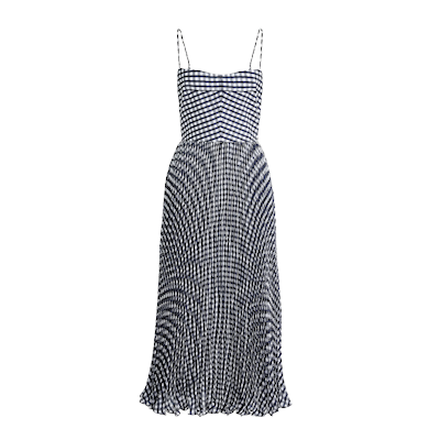 J.Crew Crinkle Gingham Midi Dress
