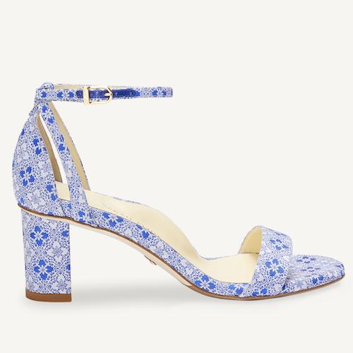 Sarah Flint Perfect Block Sandal Blue Jacquard