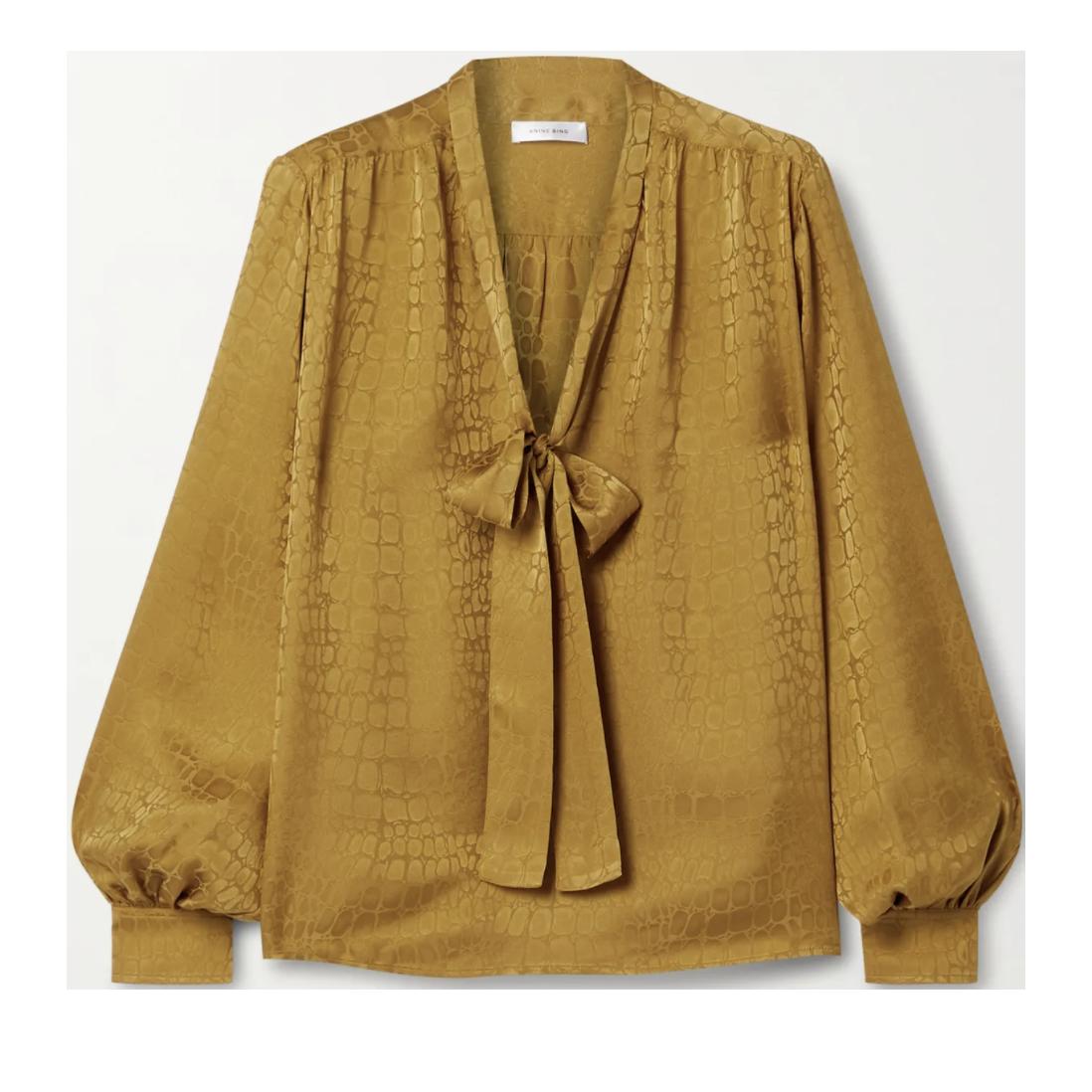 Anine Bing mustard blouse