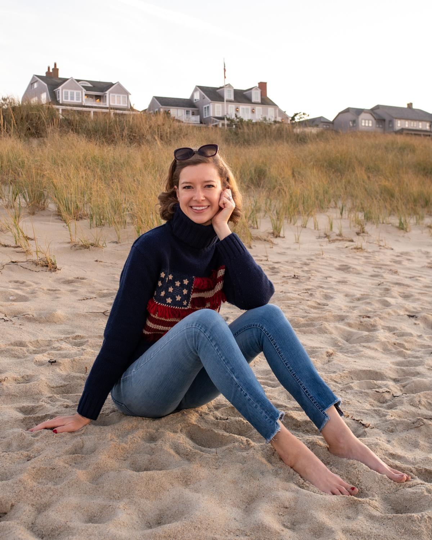 Stacie Flinner Ralph Lauren Fringe Flag Turtleneck.jpg