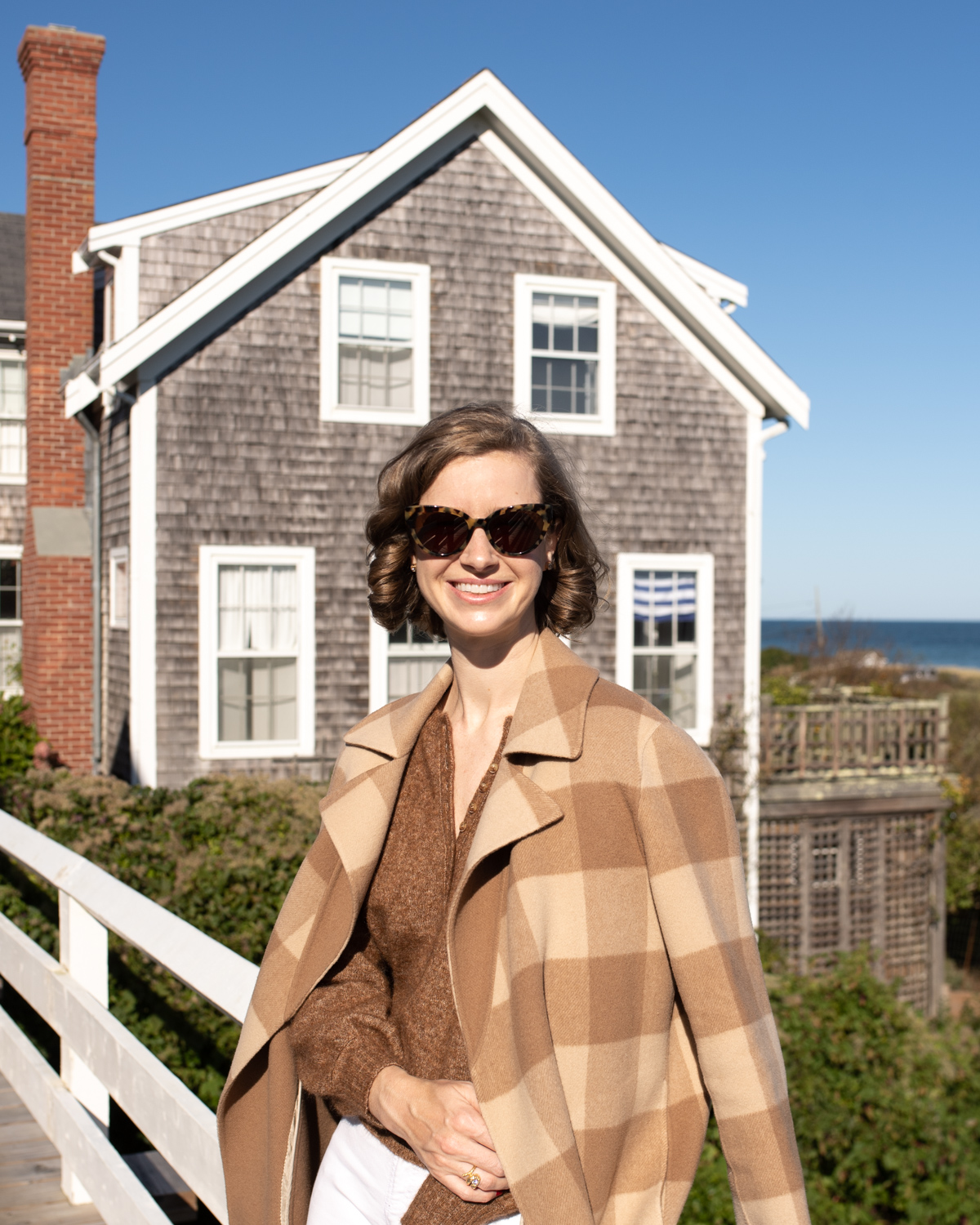 Stacie Flinner Theory Checked Coat Sezane Sweater.jpg