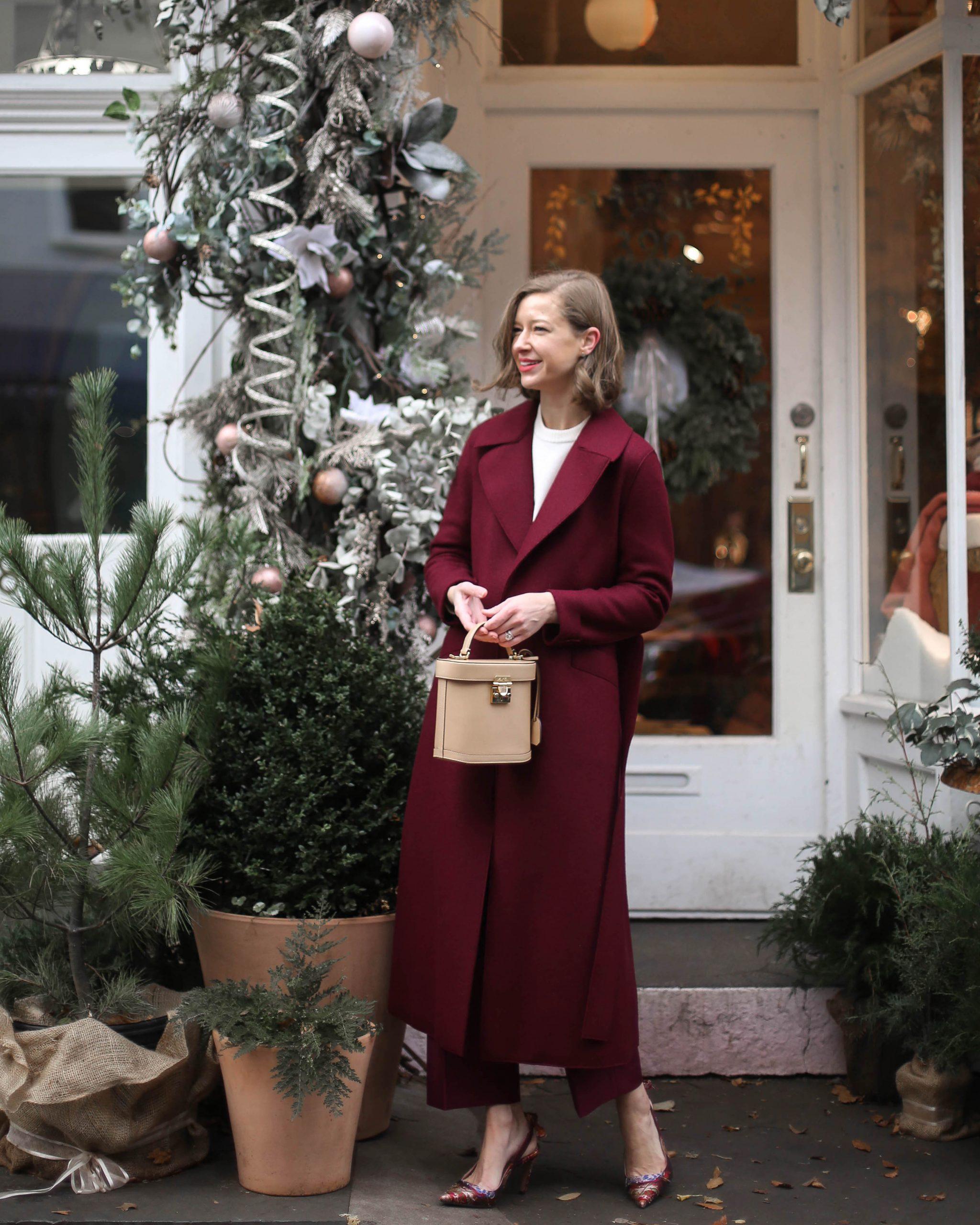 Stacie Flinner Burgundy Harris Wharf Coat.jpg