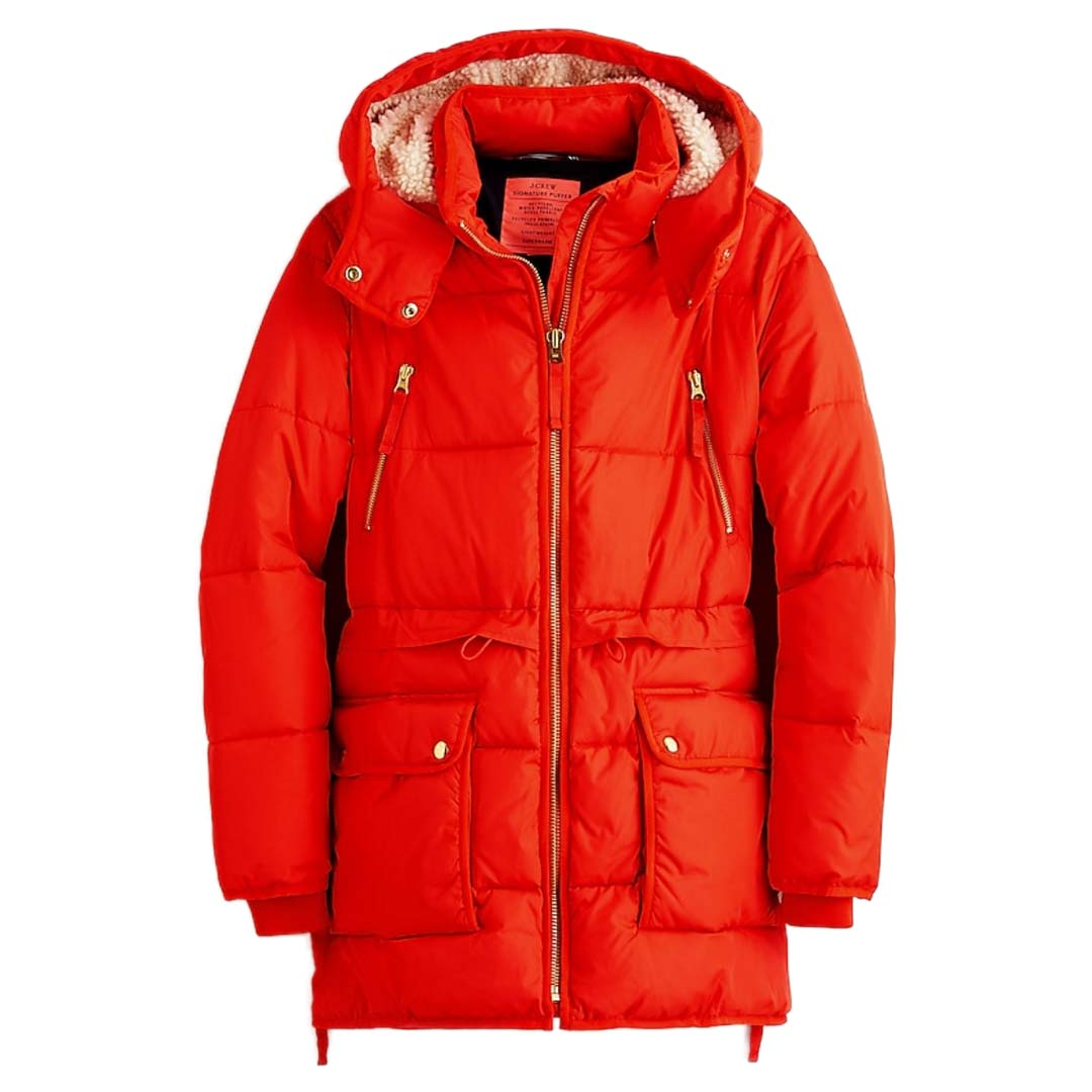 J.Crew Red Chateau Puffer