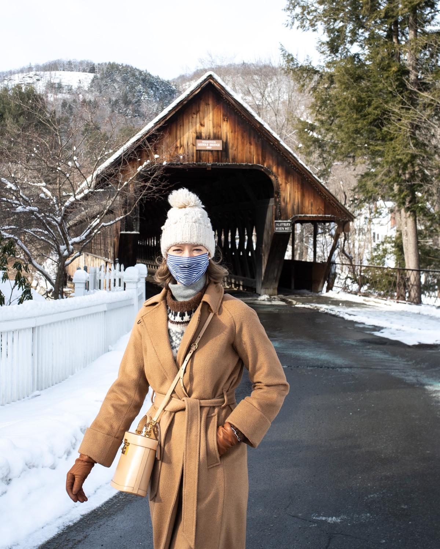 Stacie Flinner Fair Isle Sweater Camel Coat