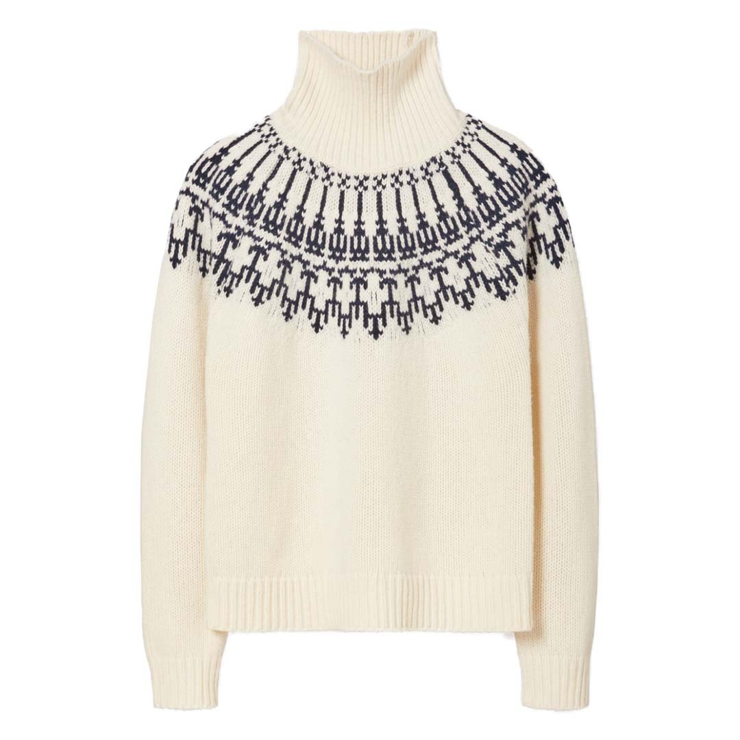 Tory Burch Ivory Fair Isle Sweater