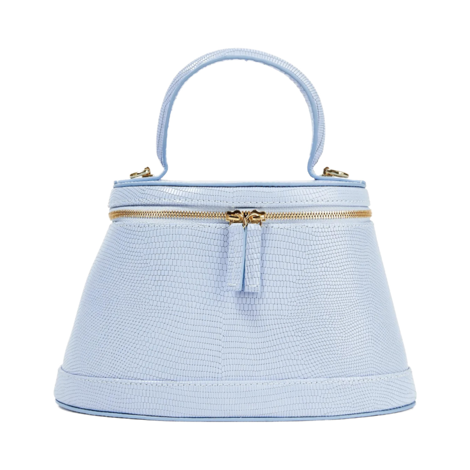 By Far Light Blue Leather Purse