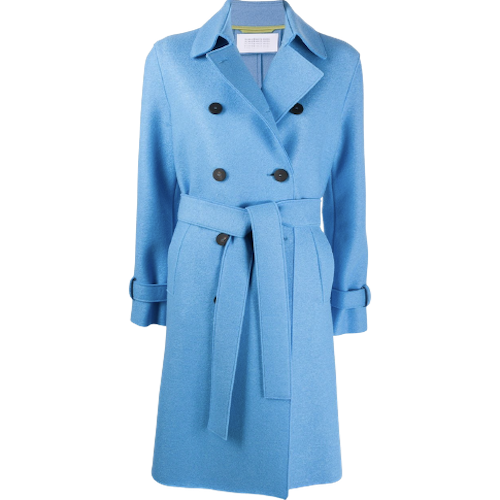 Harris Wharf Coat Cornflower Blue