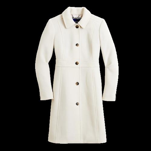 J.Crew Ivory Lady Coat