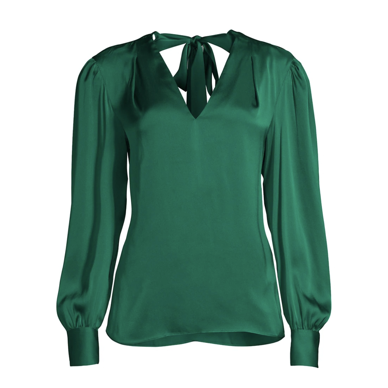 Milly Silk Green Blouse