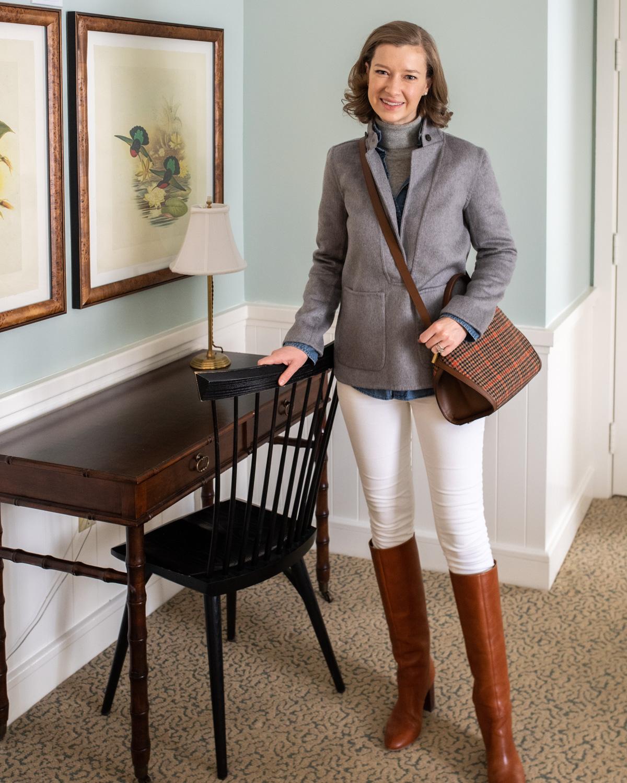 Stacie Flinner Grey Cashmere Jacket Blazer