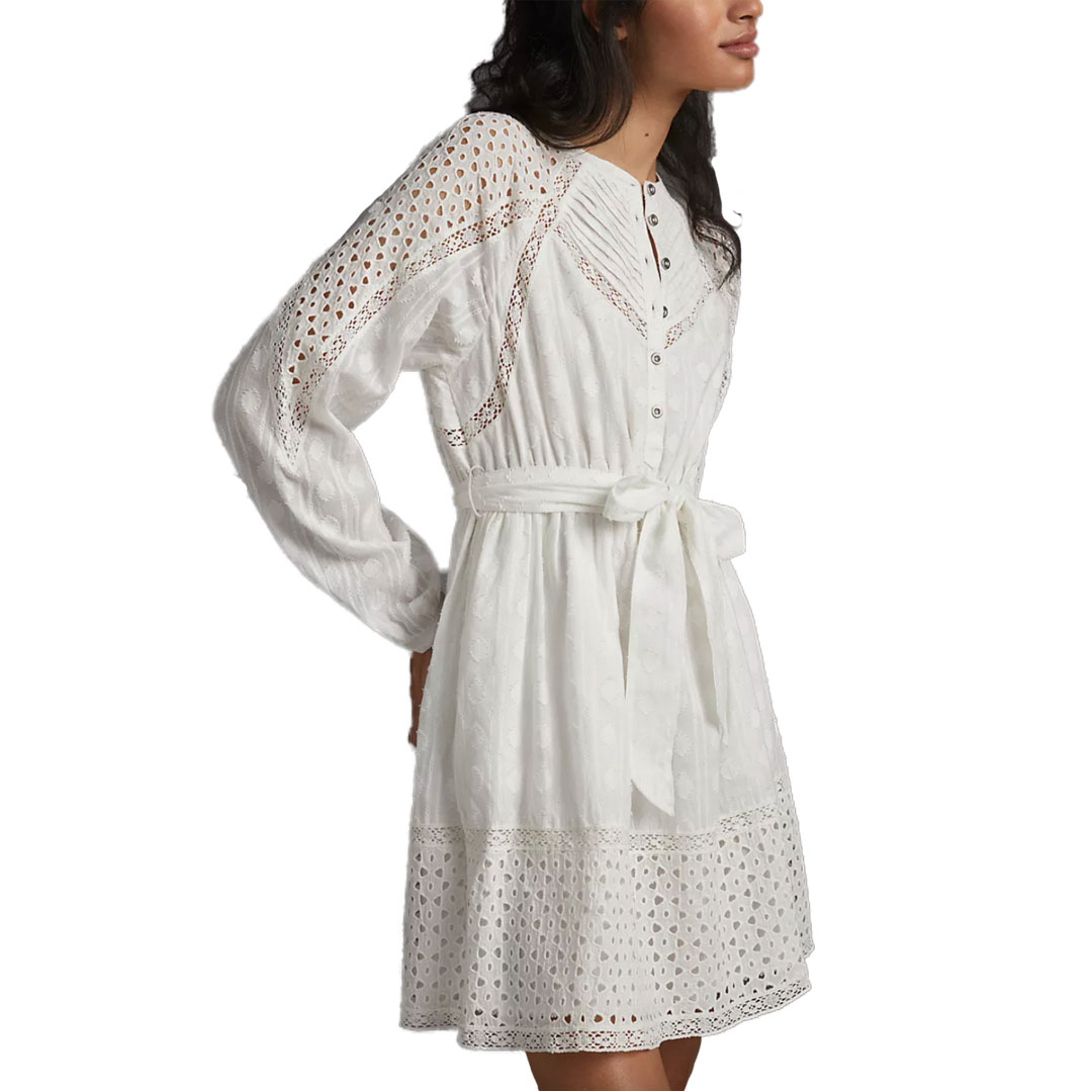 Anthropologie White Eyelet Dress