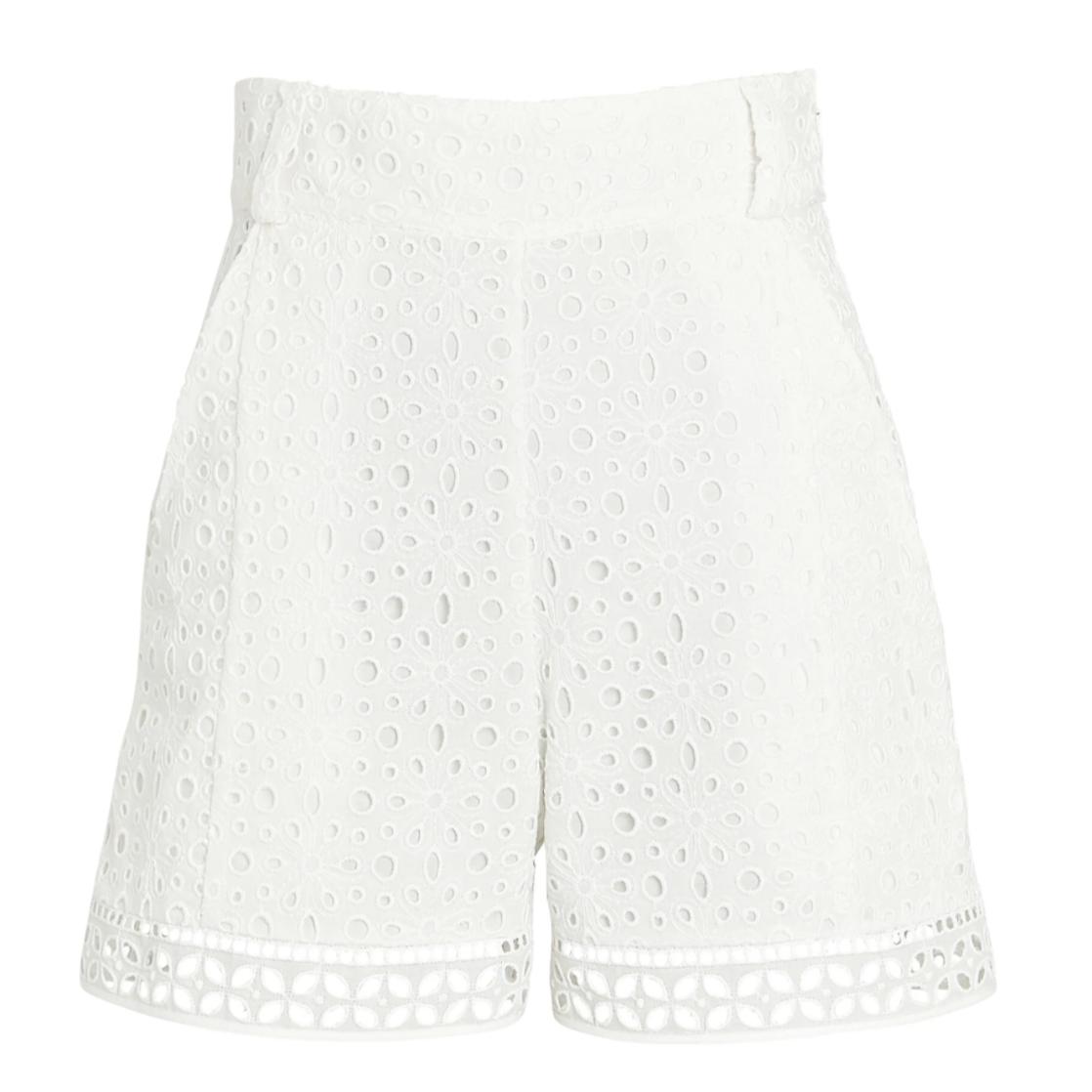 Intermix White Eyelet Shorts