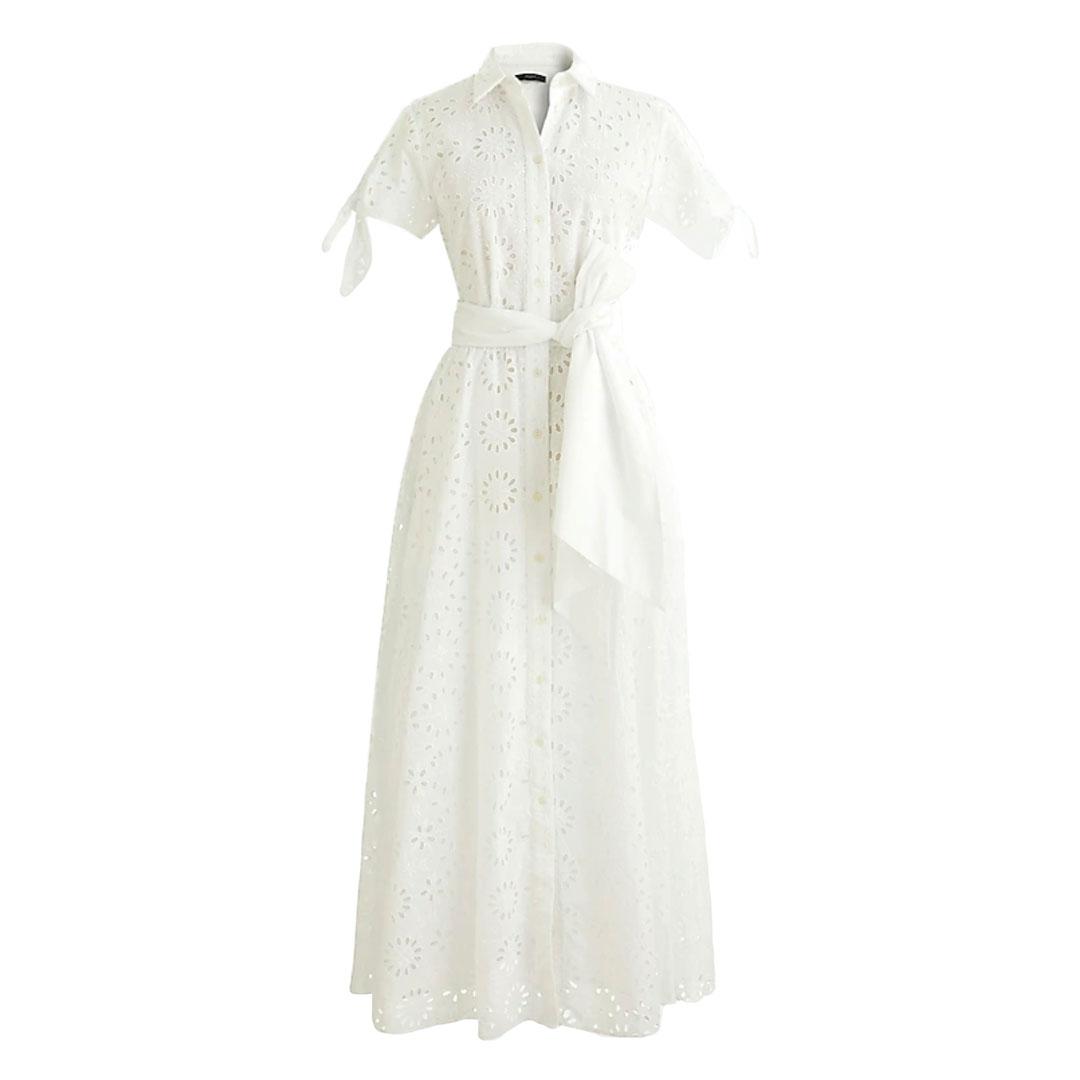 J.Crew White Eyelet Dress