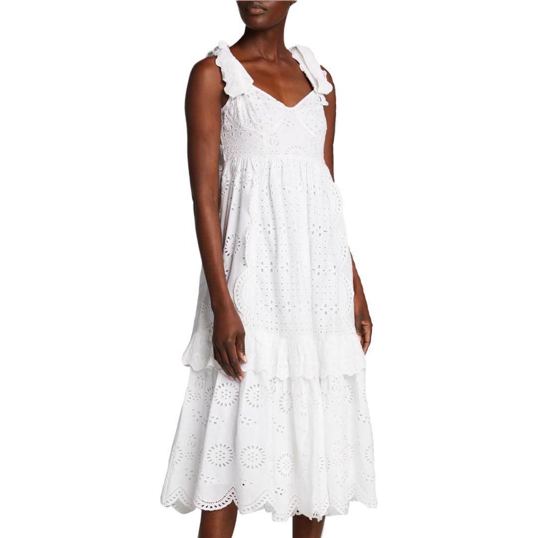 LoveShackFancy White Eyelet Dress