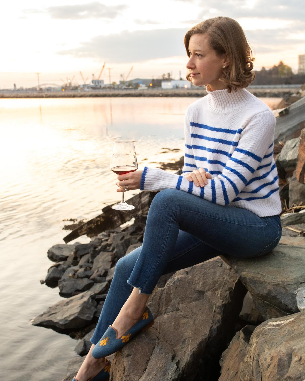 Stacie Flinner Daily Look Striped La Ligne Sweater