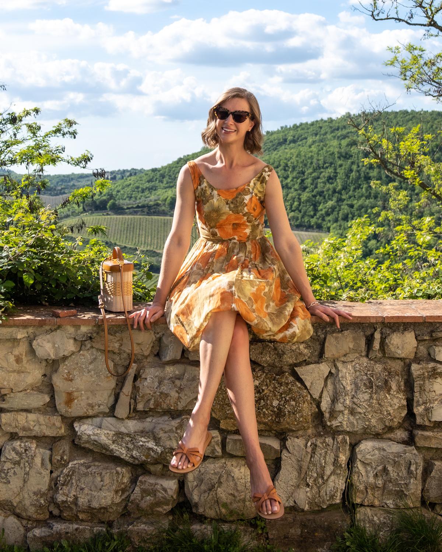 Stacie Flinner Daily Look Vintage Floral Dress