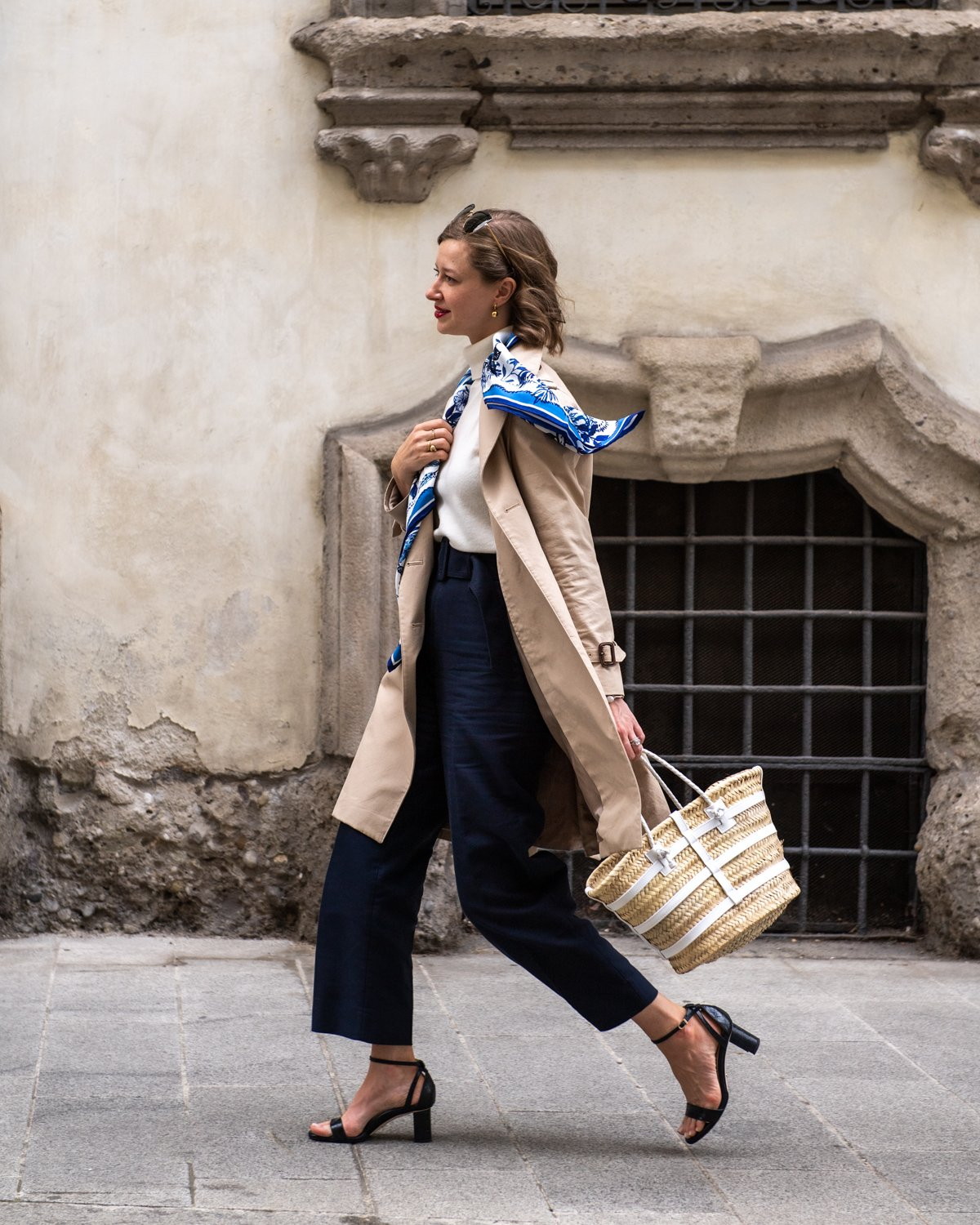 Stacie Flinner Daily Look Brooks Brothers Trench