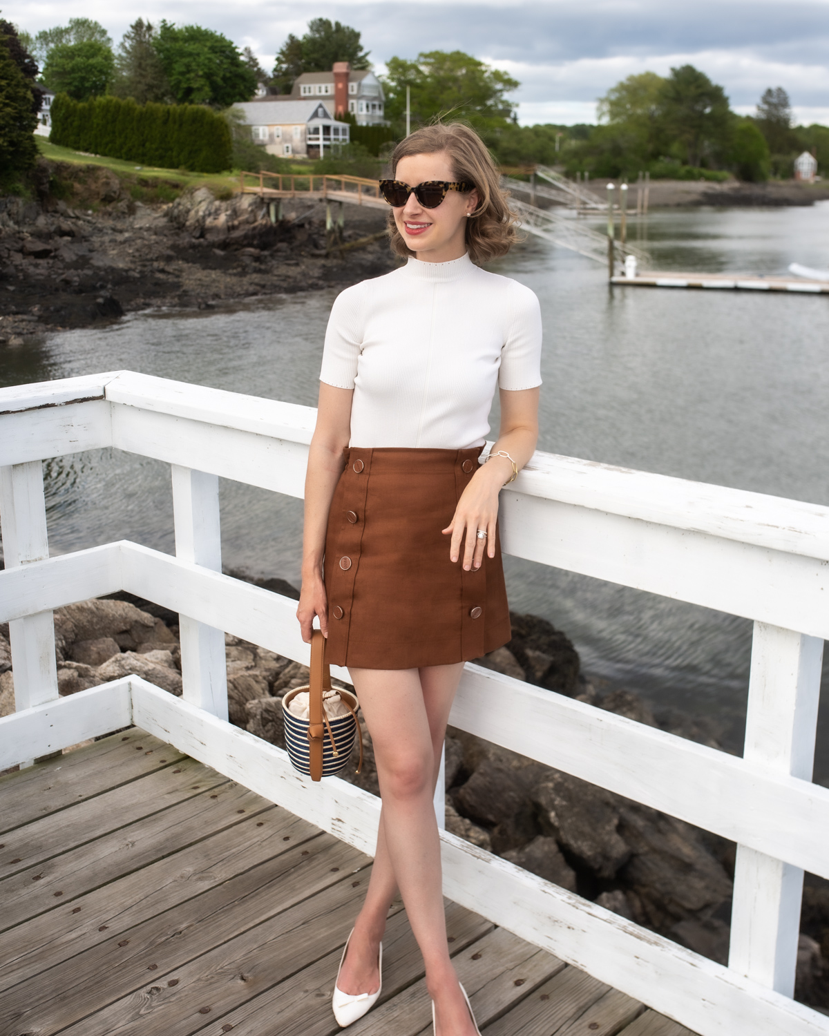 Stacie Flinner Daily Look Pucci Mini Skirt