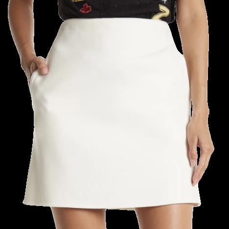 Valentino Cream Wool Mini Skirt