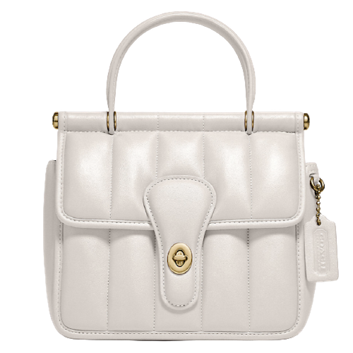 Coach Quilted Top Handle Bag