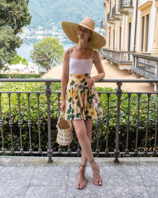 Stacie Flinner Daily Look Dolce Gabbana Floral Skirt